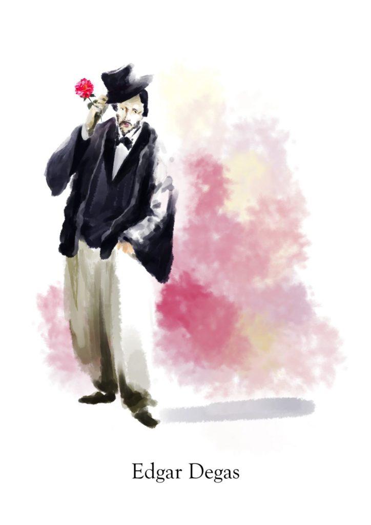 Rosa Edgar Degas【エドガードガ】